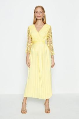 Coast Lace Bodice Pleated Skirt Dress