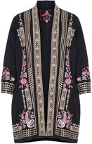 Johnny Was Plus Size Embroidered cotton cover-up