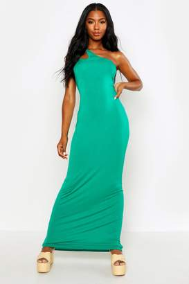 boohoo One Shoulder Strappy Cami Maxi Dress