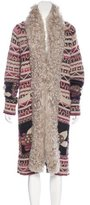 Chanel Paris-Moscou Shearling-Trimmed Cardigan