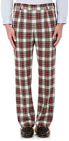 Gucci Men's Plaid Wool-Blend Trousers