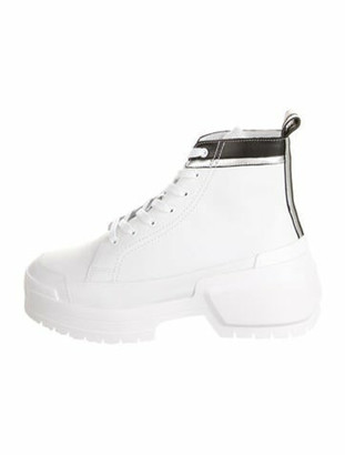 Pierre Hardy Leather Round-Toe Boots w/ Tags White