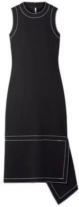 Rosetta Getty Draped Stretch-crepe Midi Dress