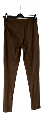 Hotel Particulier Brown Leather Trousers