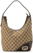 Gucci - Vintage Luxury GG Canvas New Britt Shoulder Bag - Women's