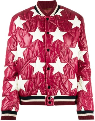 Saint Laurent Star Quilted Bomber Jacket
