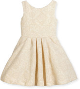 Zoë Ltd Sleeveless Metallic Jacquard Dress, Gold, Size 7-16
