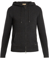 Burberry Zip-through hooded cashmere sweater