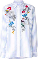 Ermanno Scervino floral embroidery striped shirt - women - Silk/Cotton/Acrylic/Wool - 42
