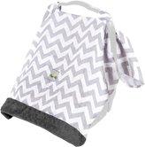 Itzy Ritzy Muslin Infant Car Seat Canopy - Charcoal Gray Chevron