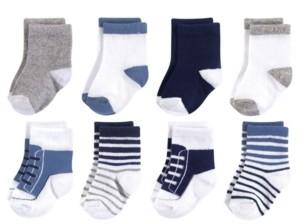 Luvable Friends Basic Socks, 8-Pack, 0-24 Months
