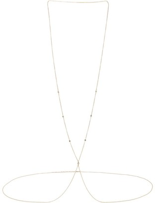 Jacquie Aiche 14kt Yellow Gold Diamond Spaced Out Body Chain