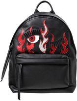 Chiara Ferragni Flirting Flames Faux Leather Backpack