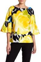 Trina Turk September Floral Bell Sleeve Shirt