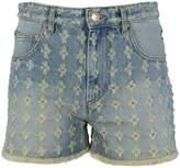Isabel Marant Floral Embroidered Denim Shorts