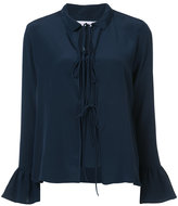 See by Chloe layered flared cuff blouse - women - Silk - 34