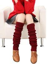 Urban CoCo Women's Winter Knee High Footless Socks Knit Crochet Leg Warmer