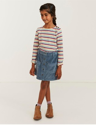 Fat Face Girls Cord Skirt - Cornflower