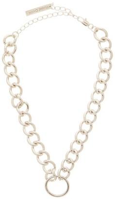 Frame Chain Hooker Gold-plated Choker - Silver