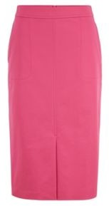 HUGO BOSS A Line Skirt In Washed Stretch Cotton Twill - Pink