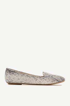 Ardene Snakeskin Faux Leather Flats