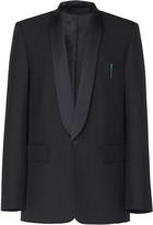 Balenciaga Satin-Lapel Gabardine Tuxedo Jacket