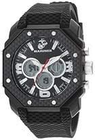 U.S. Marines Men's Analog-Digital Chronograph Silicone Strap Watch by Wrist Armor