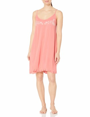 Mae Amazon Brand Women's Sleepwear Crinkle Crepe Chemise Nightgown