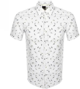 BOSS Ronn Slim Fit Short Sleeve Shirt White