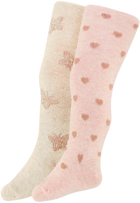 Monsoon 2X Baby Sparkly Butterfly Tights Multi