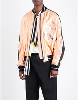 Haider Ackermann Metallic-finish Leather Bomber Jacket