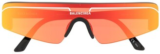 Balenciaga Eyewear Mirrored Shield Sunglasses