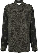 Faith Connexion animal print button-up shirt - women - Silk - M