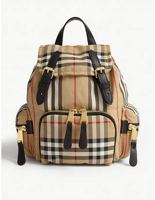 Burberry Vintage-check small woven rucksack