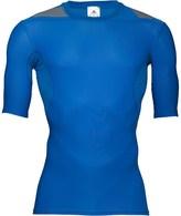 adidas Mens TechFit Powerweb Compression ClimaCool Top Blue