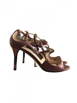 Jimmy Choo Lance Pink Glitter Sandals