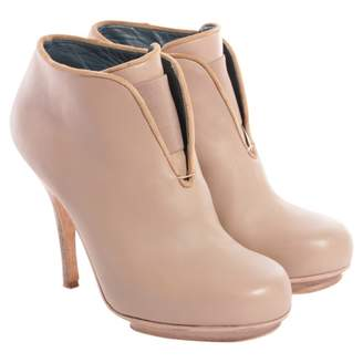 Acne Studios Beige Leather Ankle boots