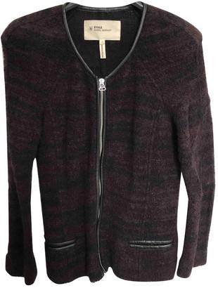 Etoile Isabel Marant Burgundy Wool Jacket for Women