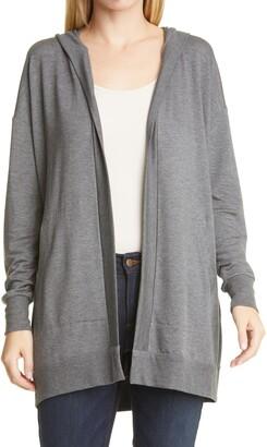 Eileen Fisher Hooded Long Open Jacket