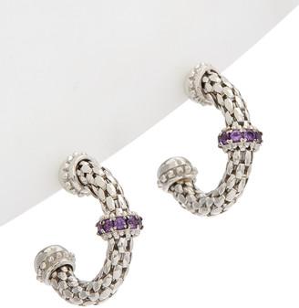 Phillip Gavriel Silver Amethyst Earrings
