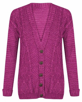 21fashion RIDDLED with Style Women's Cardigan with Long Sleeves and Buttons Coral