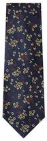 Chanel Vintage Navy Silk Jacquard Tie