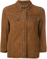 Twin-Set button-up suede jacket