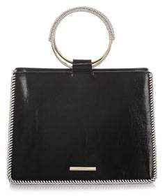 Brahmin Black Mumford Mod Camille Leather Satchel