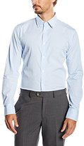 Benetton Men's Gingham Checkered Long Sleeve Casual Shirt