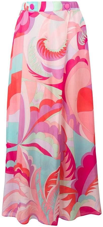 Acapulco Print Maxi Skirt