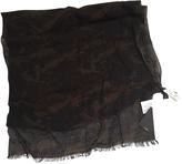Fendi Khaki Wool Scarf