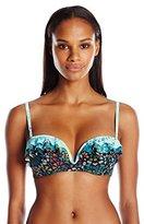 Coco Rave Women's Sparkly Medallion Bridgette U-Wire Bikini Top