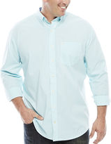 Izod Stretch Poplin Long-Sleeve Button-Front Shirt - Big & Tall