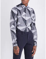 Duchamp Tailored-fit Geometric Pattern Shirt